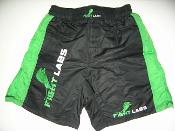 MMA FIGHTER WALKOUT SHORTS  Black / Green Stripe